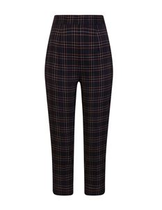 Hell Bunny Peebles 50s Cigarette Navy Tartan Trousers