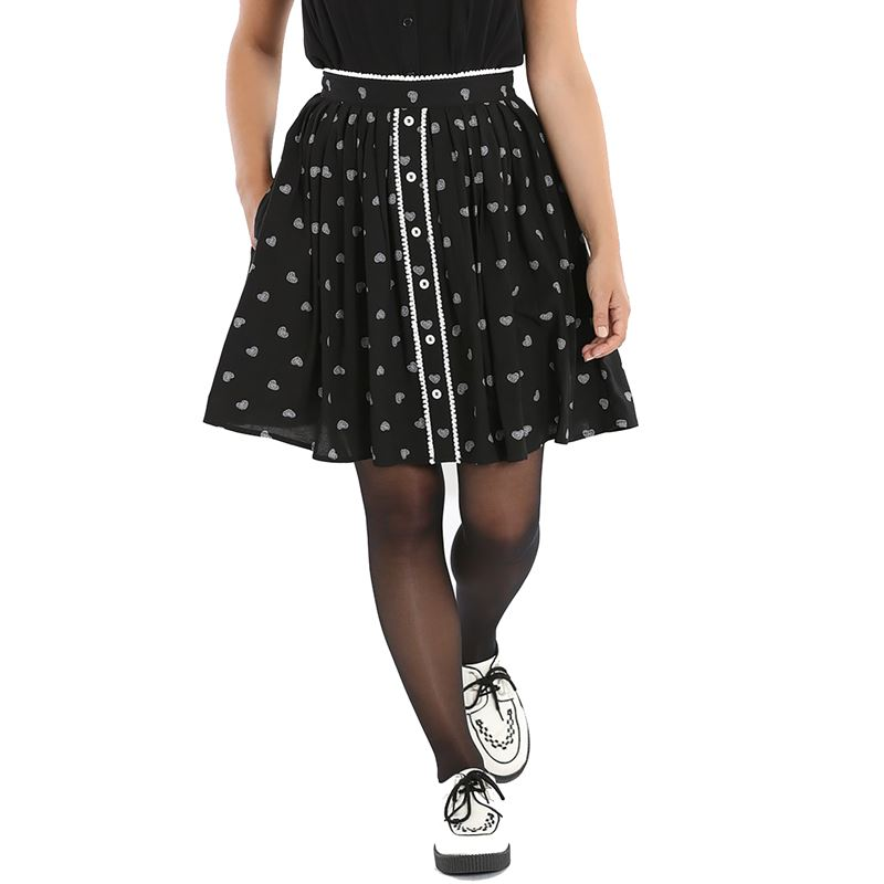 Hell Bunny Ribcage Heart Alternative Mini Skirt