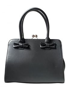 Collectif Vintage Style Jessica Handbag In Black