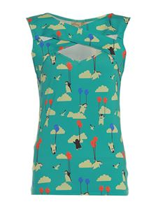 Lindy Bop Alicia Flying Penguin Print Top