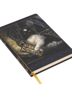 Lisa Parker Time's Up Embossed Cat Mystical Journal
