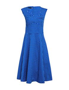 Vintage Sweetheart Neck Polka Dot Dress