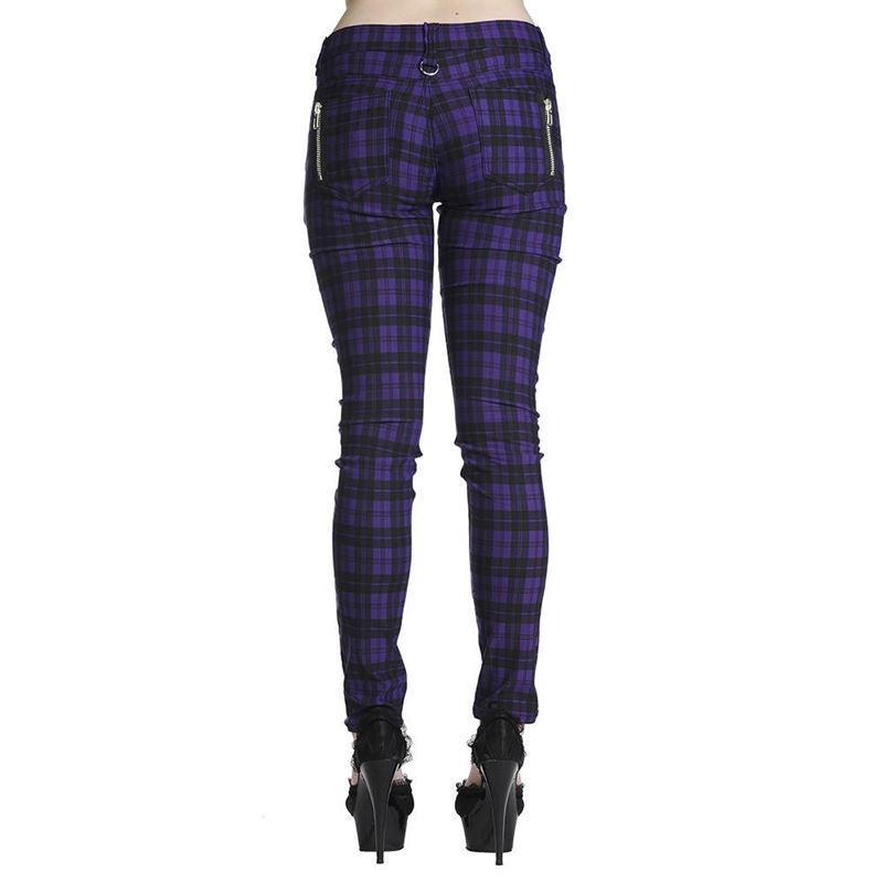 Banned Check Punk Skinny Jeans