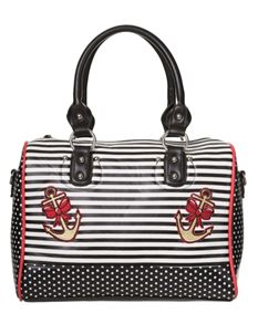 Dancing Days The Vice Nautical Anchor Striped Polka Bag