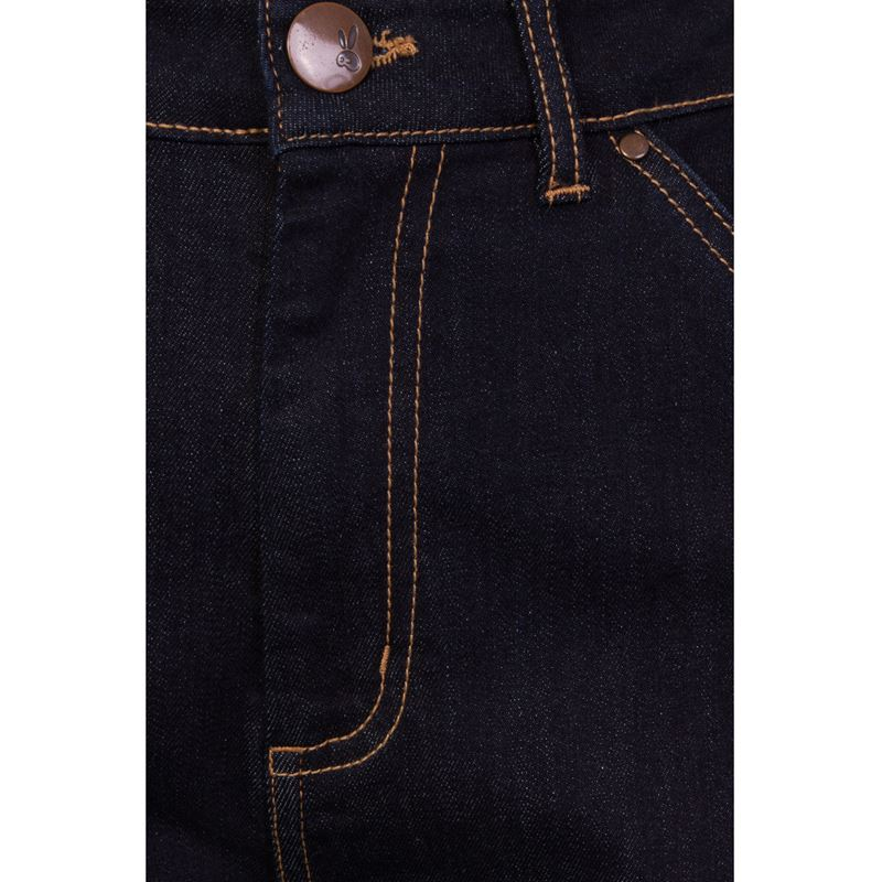 Hell Bunny Carpenter 40s Style Rockabilly Denim Jeans