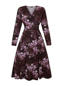 Lady Voluptuous Lyra Hypnotic Long Sleeved Dress UK 26