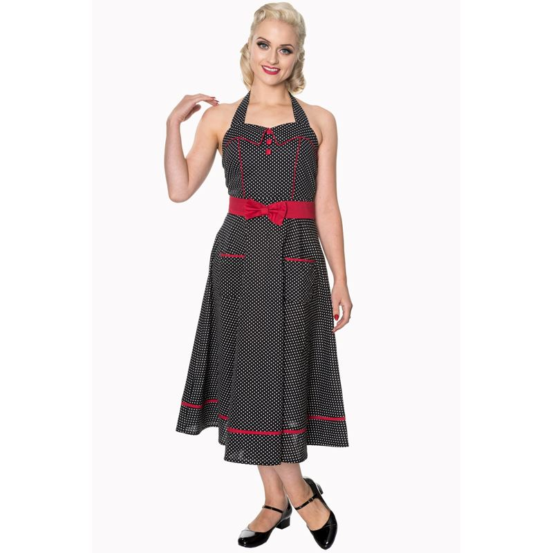 Banned Star Crossed Polka Dot 50s Style Dress
