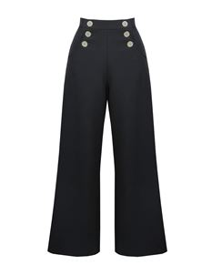 Pretty Retro Vintage Style Sailor Slack Black Trousers