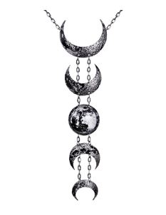 Restyle Lunar Necklace Crescent Moon Long Necklace