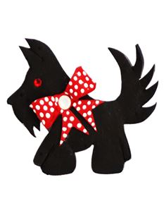 Guns N Posies Scottie Dog Brooch