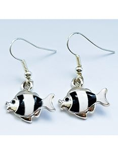 Shazazz Jewellery Black Fish Earrings