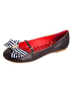 Banned Nautical Retro Rockabilly Pumps UK Size 4