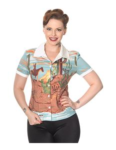 Magical Day Dancing Days 50s Style Cowgirl Desert Shirt