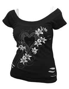 Spiral Direct Pure of Heart Ripped 2in1 Alternative Top