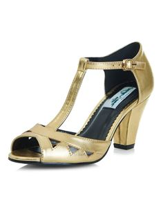 Collectif Lulu Hun Veronica 30s 40s Gold Heels Shoes