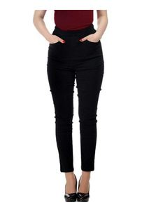 Collectif Tali 50s 60s Black Tight Cigarette Trousers