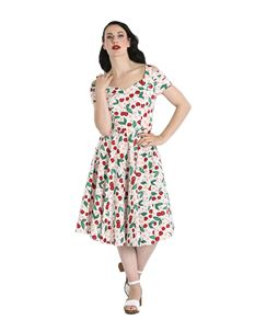 Hell Bunny Yvette Cherry 50s Rockabilly Dress