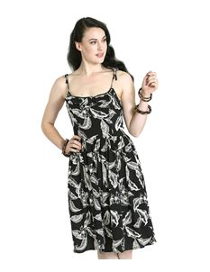 Hell Bunny Chiara Floral Leaf Summer Strappy Dress