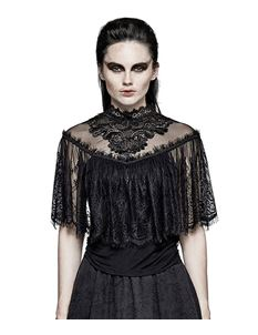 Punk Rave Nemesis Gothic Victorian Lace Alternative Top