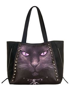 Spiral Direct Cat Stud Tote Alternative Bag