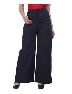 Collectif Sophia 40s Navy Blue Sailor Nautical Trousers
