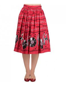Dancing Days Banned 50s Style Empower Jive Red Skirt