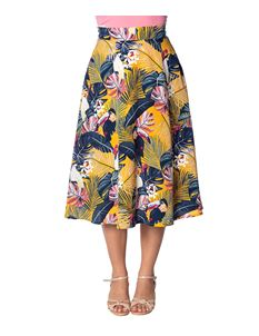 Banned Retro Paradise Toucan Tropical Chiffon Skirt