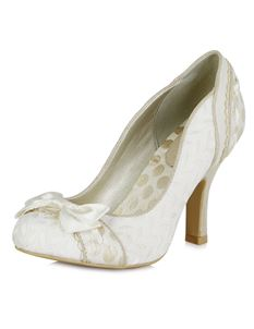 Ruby Shoo Amy Bow Occasion Wedding Shoes Heels Cream