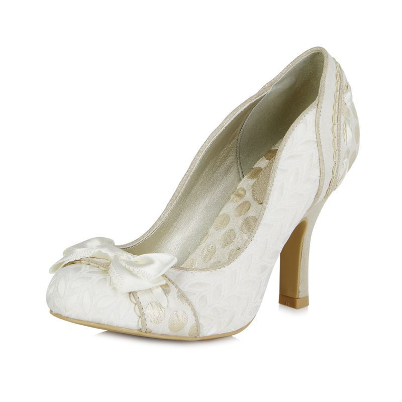 Ruby Shoo Amy Bow Occasion Shoes Heels Cream