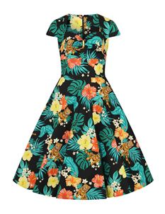 Hell Bunny Bali Tiger Jungle 50s Rockabilly Dress