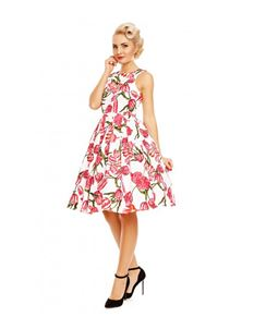 Dolly & Dotty Annie Retro Tulip Floral Swing Dress