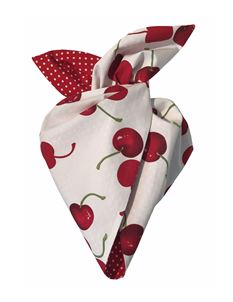 Be Bop a Hairbands White Cherry with Red Polka Hairband