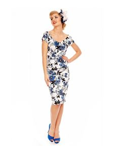 Dolly And Dotty Bette Vintage Floral Pencil Dress