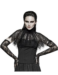 Punk Rave Pavlina Gothic Victorian Lace Alternative Top