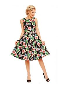 Dolly & Dotty Annie Retro Floral Swing Dress