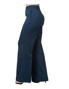 Banned 40s Wide-Leg Party on Classy Petrol-Blue Trouser
