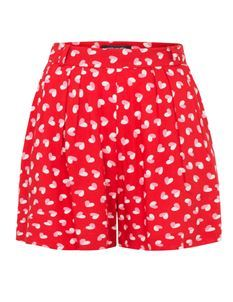 Emily & Fin Billie Shorts Red Heart Print Size UK 8