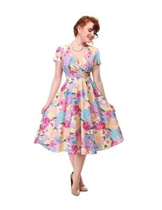 Collectif Maria English Garden Floral Swing 50s Dress