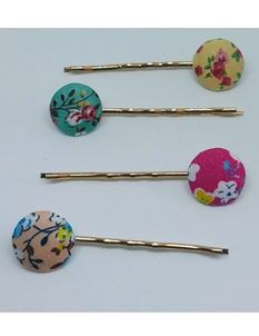 Said Lucy Floral Fabric Hair Clips
