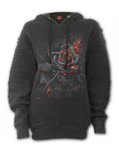 Spiral Direct Burnt Rose Alternative Goth Black Hoodie