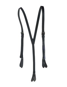 Men's Gerardo Black Leather Adjustable Braces