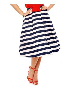 Dolly & Dotty Striped White And Blue Rita Skirt