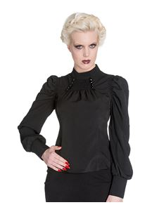 Spin Doctor Melrose Gothic Victorian Alternative Top Black