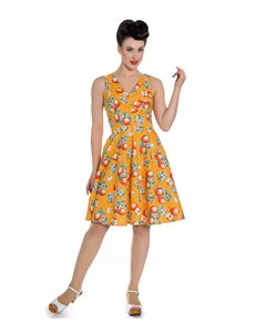 Hell Bunny Somerset Apple Fruit Summer Dress