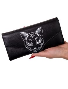 Banned Nemesis Black Cat Pentagram Alternative Purse