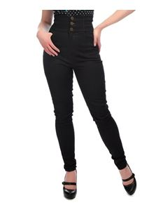 Collectif Nomi Black 50s Style High Waisted Jeans