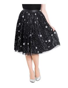 Hell Bunny Cosmic Star Glitter Xmas Party Skirt