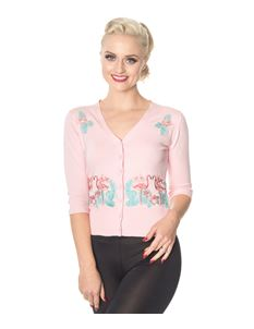 Dancing Days Face To Face Flamingo 50s Style Cardigan