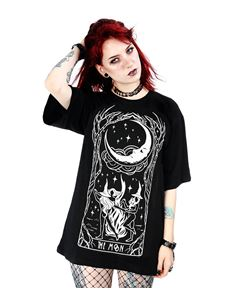 Restyle Witches Chant Oversized Alternative T-Shirt