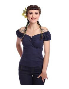 Collectif Dolores Navy Top